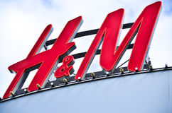 HM store logo on shopping centre Royalty Free Stock Images