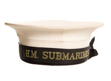 Hm submarines cap cutout Royalty Free Stock Photos