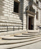 HM Treasury. An image of the a very important government building in the heart of London the HM Treasury Stock Photo
