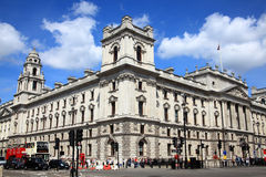 HM Treasury. London, UK, Jun 11, 2011 : HM Treasury  at 1 Horse Guards Road,  Whitehall which is responsible for the British Governments public finance and Royalty Free Stock Images