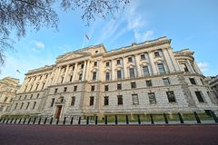 HM Treasury Building, London, England, UK Royalty Free Stock Photo