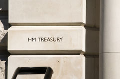 HM Treasury London Royalty Free Stock Image