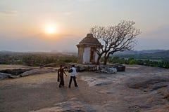 Hmakuta hill temple and sunset