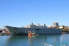 HMAS堪培拉 库存图片