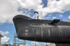HMAS烤箱:Oberon类水下弓细节 库存图片