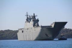 HMAS ADELAIDE Stockbild