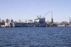 HMAS Choulas docked in Sydney Harbour Stock Images