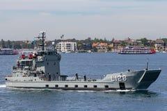 HMAS Labuan L 128 Balikpapan-klasselandungsboot von der k?niglichen australischen Marine in Sydney Harbor stockfoto