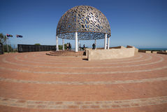 HMAS Sydney Memorial Dome with paved area Royalty Free Stock Image