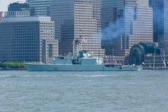 HMCS Athabaskan en la semana de la flota Foto de archivo libre de regalías