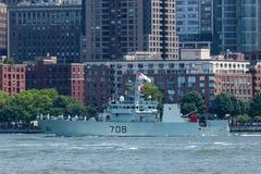 HMCS Moncton en la semana de la flota Imagen de archivo libre de regalías