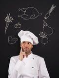 Hmmm… Was kann ich kochen? Stockbilder