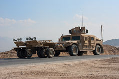 HMMWV Mine Roller Stock Image