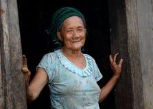 Hmong前辈 免版税库存照片