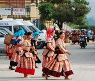 Hmong妇女在一个市场上在Sapa 免版税库存图片