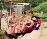Hmong妇女在一个市场上在Sapa 库存图片