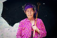 Hmong妇女画象在Bac Ha,越南中 免版税库存照片
