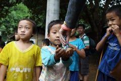 Hmong孩子 库存图片