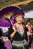 Hmong小山部落妇女。 库存图片