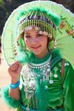 Hmong小山部落妇女。 免版税库存照片