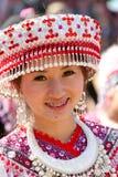 Hmong小山部落妇女。 免版税库存图片