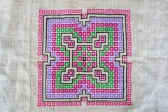 Hmong绣了布料 免版税库存照片
