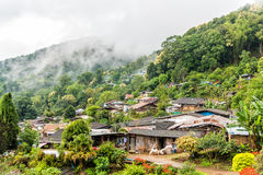 Hmong-Dorf in Nord von Thailand Stockfoto