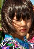 Hmong dziewczyna w tradycyjnej sukni Zdjęcia Stock
