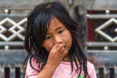 Hmong etnhic mniejszościowa dziewczyna Wietnam zdjęcie royalty free