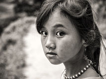 Hmong Girl from Sapa,VieTnam. Ethnic Hmong children in Sapa, Vietnam.Vietnam is a country where there are 54 different racial-ethnic groups.Children Hmong start Royalty Free Stock Image