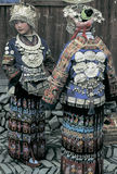 Hmong  in southwest  China. Hmong  girls in  national   dress,in  Guizhou,China Stock Images