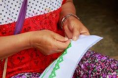 Hmong haftował płótno Obrazy Royalty Free