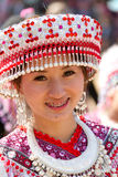 Hmong hill tribe woman. Royalty Free Stock Images