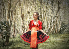 Hmong hill tribe woman Royalty Free Stock Images