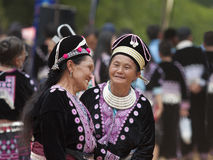 Hmong Hill Tribe women in traditional costumes Royalty Free Stock Images