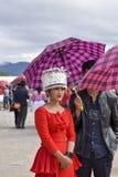Hmong klänning i nytt år royaltyfria bilder