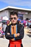 Hmong män med traditionsdressingen fotografering för bildbyråer