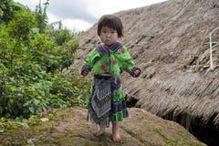 亚洲种族女孩组hmong meo 免版税图库摄影