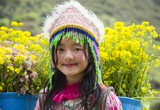 Free Hmong Minority Ethnic Girl In Traditional Clothes Royalty Free Stock Image - 179415736