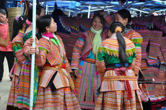 Hmong minority people in traditional dress. Sa Pa, Northern Viet Royalty Free Stock Photos