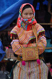 Hmong minority people in traditional dress. Sa Pa, Northern Viet Royalty Free Stock Photography