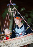 The Hmong mother and her daughter Stock Image