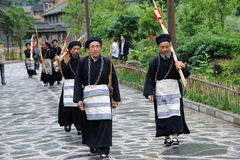 Hmong musicians from Guizhou with lusheng Stock Photo