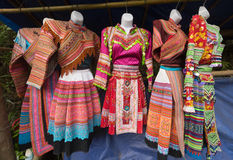 Hmong national dresses, northern Vietnam Royalty Free Stock Photo