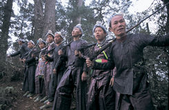 Hmong no sudoeste China fotos de stock royalty free