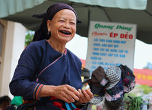 Hmong pensionär Royaltyfri Bild