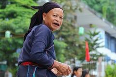Hmong pensionär Royaltyfria Bilder