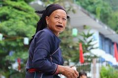 Hmong pensionär Fotografering för Bildbyråer