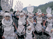 Hmong  in southwest  China Stock Photography