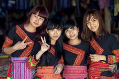 Hmong traditional girls Stock Photo